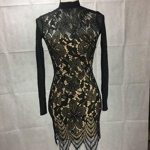 Material Girl Juniors Openback Lace Bodycon Dress